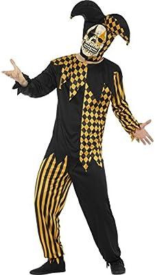 Disfraz de Bufón Calavera para hombre: Amazon.es: Juguetes y juegos