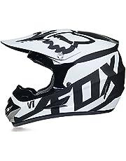 Fullface MTB-helm, crosshelm, downhill helm, kinderen, crosshelm met bril, handschoenen, ABS-schaal en EPS voor verhoogde veiligheid