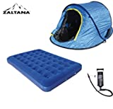 POP UP TENT WITH AIR MATTRESS(DOUBLE) AND AIR PUMP SET, Outdoor Stuffs