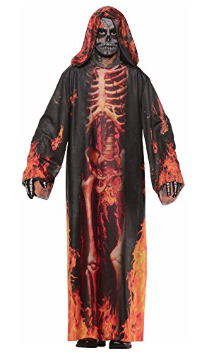 [Underworld Grim Reaper Child Costume Flame Reaper - Medium] (Angel Of Death Costume Makeup)