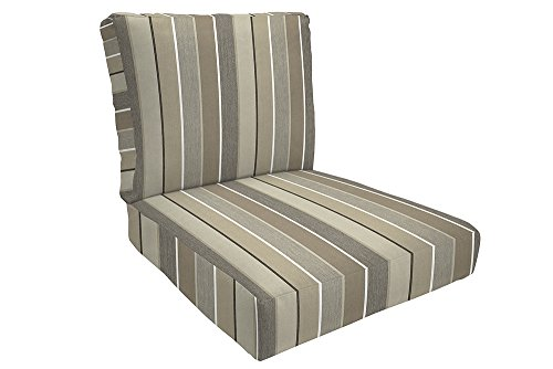 Easy Way Products Knife Edge Sewn Closed Deep Seating Lounge, 26