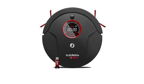 E.ziclean BOT PETS + - Robot aspirador, color negro y rojo: Amazon ...