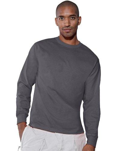 Hanes TAGLESS 6.1 Long Sleeve T-Shirt Smoke Gray 3XL