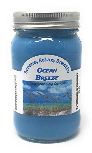 Ocean Breeze - Soy Candle - 16 Oz. Mason Jar
