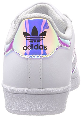 Unisex adidas Kinder Metallic Superstar J White Top White Silver Ftwr Ftwr sld Low Weiß TqHdqx5