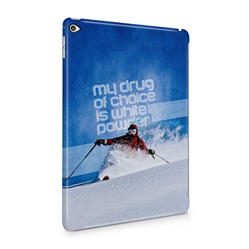 Skiing Slide Downhill Telemark Style My Drug Of Choice Motivation Quote Plastic Tablet Snap On Back Case Cover Shell For iPad Air (The Mountain Telemark Skis)