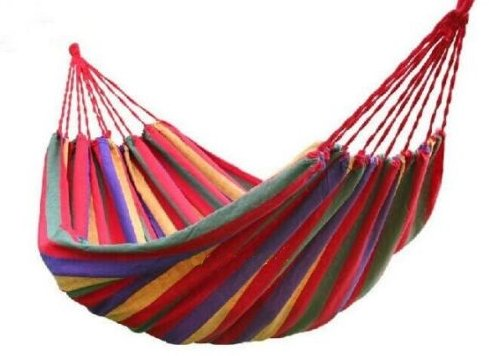 Hammock Canvas Outdoor Swing Bed Hanging Camping Cotton Fabric Rope Portable Double Color Beach Chair Person New - Beach Shopping Miami Best