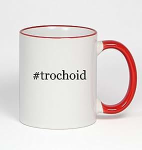 #trochoid - Funny Hashtag 11oz Red Handle Coffee Mug Cup