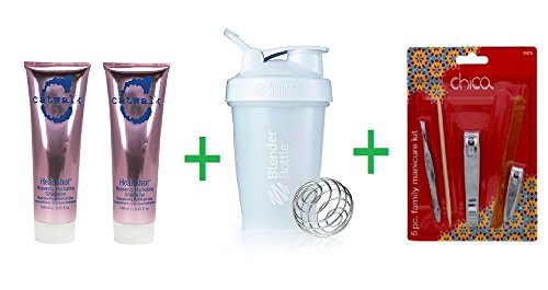 TIGI Catwalk Headshot Heavenly Hydrating Shampoo 8.45 OZ (Pack of 2) + Shaker Bottle assorted colors 20 oz + Chica Family Manicure Kit