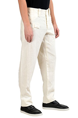 Dolce-Gabbana-Mens-Off-White-100-Hemp-Casual-Pants-US-38-IT-54