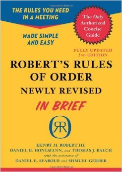 Robert's Rules of Order Newly Revised In Brief, 2nd edition (Roberts Rules of Order in Brief) by Henry M. III Robert Daniel H. Honemann Thomas J. Balch2 Revised edition (Textbook ONLY, Paperback)
