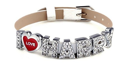 MBOX I Love Harry One Direction ID Member bracelet wristband wrist band link chain fashion jewelry