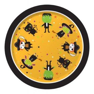 Creative Converting Halloween Tiny Terrors Round Dessert Plates, 8-Count]()