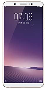 "New Vivo V7+ Unlocked Dual SIM (4G+4G) 5.99"" Fullview Display- 4GB RAM- 16MP Primary+24MP Front Facing Camera- GOLD- 64GB"