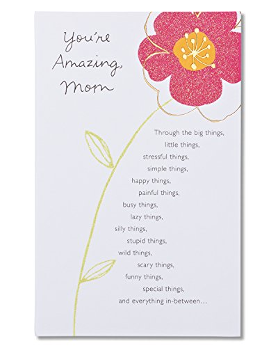 American Greetings You're Amazing Floral Birthday Greeting Card for Mom with Glitter