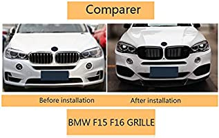 Front Kidney Grille For BMW X Series X5 F15 X6 F16 X5M F85 X6M F86 2013-2019 ABS Glossy Black Double-slat Grill