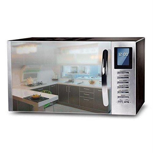 CE MO25SG13S - Micro-ondes combiné noir porte miroir - 25L - 900 W - Grill 1000 W - Convection 1000 W Continental Edison 3606505567252