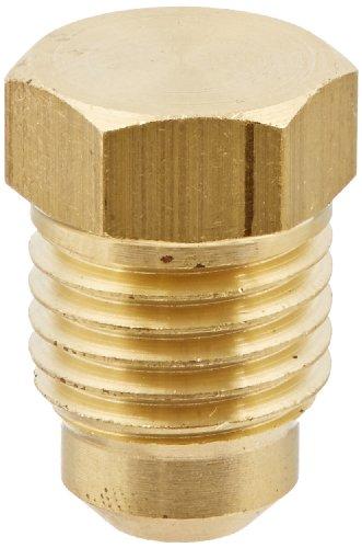 Eaton Weatherhead 39X4 Brass CA360 SAE 45 Degree Flare, Plug, 1/4