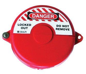 Brady USA 65561 Brady Small Red Injection-Molded Polypropylene Gate Valve Lockout