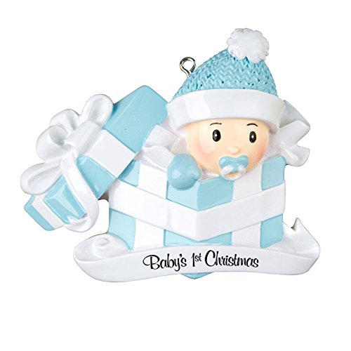 Personalized Ornament BABY'S FIRST CHRISTMAS BABY BOY