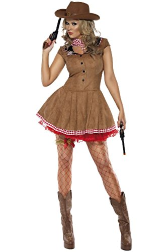 8eighteen Fever Wild West Cowgirl Adult Costume (Wild Zebra Adult Womens Costume)