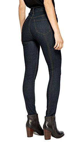 Indigo One Button Jeans - 8