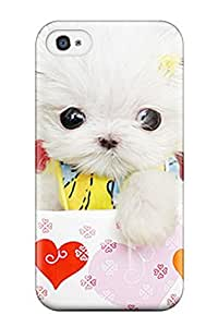 4/4s Scratch-proof Protection Case Cover For Iphone/ Hot Cute Puppies Make Your Girlfriend Smile Phone Case