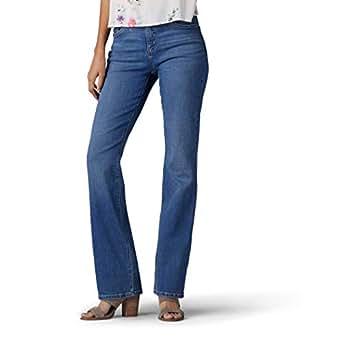Lee Womens Petite Flex Motion Regular Fit Bootcut Jean Jeans - Blue - 4 Petite