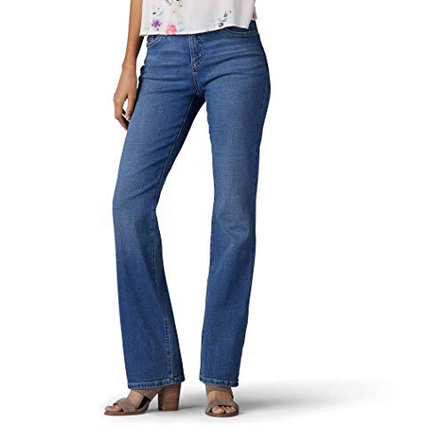 LEE Women's Flex Motion Regular Fit Bootcut Jean, Majestic, 14 Long - Jeans Womens Bootcut Jeans