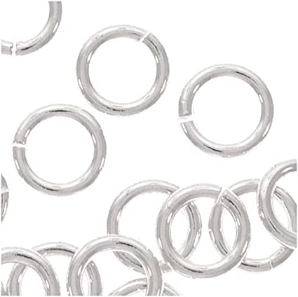 pack of 50 925 Sterling Silver JUMP RINGS 6mm findings