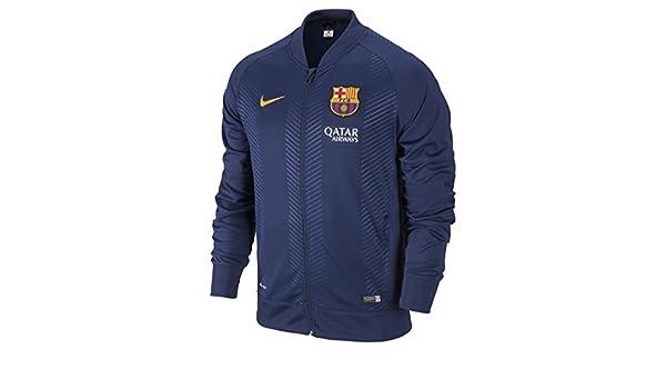 Nike Chaqueta para Hombre FC Barcelona Squad Sideline Knit Pre Match Azul  Loyal Blue Sunlight cdbe4870251