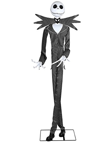 Spirit Halloween 6 Ft Jack Skellington Animatronics Decorations – The Nightmare Before (The Nightmare Before Christmas Fabric Material)