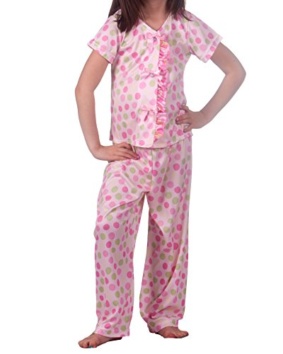 Laura Dare Big Girls Tropical Beauty Man Tailor Pajama, Size 10