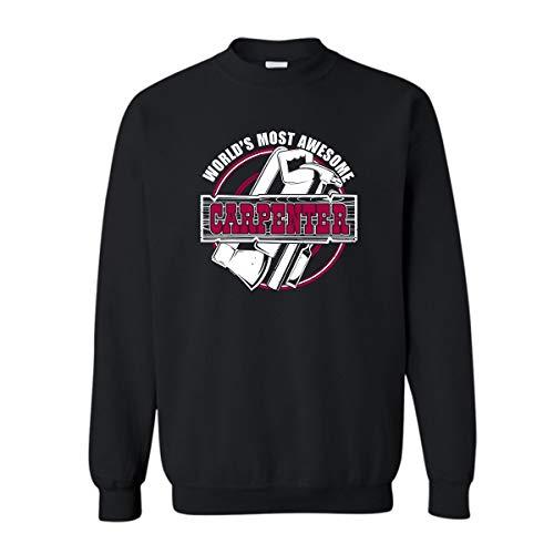5bc53ea405 Zira-S World's Most Awesome Carpenter Women Sweatshirt, Men Outerwear T  Shirt Black,