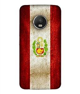 ColorKing Football Peru 01 Multicolor shell case cover for Motorola Moto G5 Plus