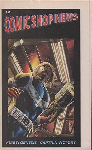 Comic Shop News, no. 1261 (2011) (cover: Kirby: Genesis-Captain Victory): Bomb Queen, Aquaman, Evolutionary War, Greek Street, Medea's Luck, Logan's Run Aftermath, Pogo, Tintin, Broken Ear, Avengers (Single Images Logan Logan)