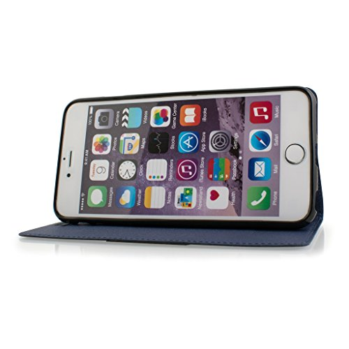 Good Quality Apple iphone 6s plus Case cover, Apple iPhone 6s plus Navy Blue Designer Style Wallet Case Cover
