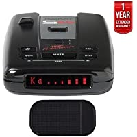 Escort Passport S55 High Performance Radar and Laser Detector with Car Mat Bundle + 1 Year Extended Warranty