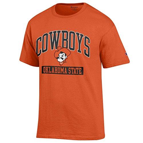 Champion NCAA Oklahoma State Cowboys Men's Men's Kick-Off Short sleeve T-Shirt, X-Large, Orange