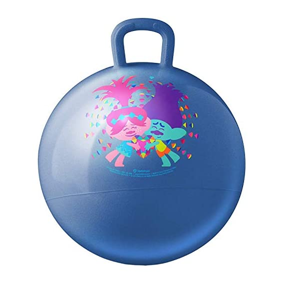 Jukkre Inflatable Hopper Ball for Kids (Hip-Pity Hop Ball, Hopping Ball, Bouncy Ball with Handles, Sit & Bounce