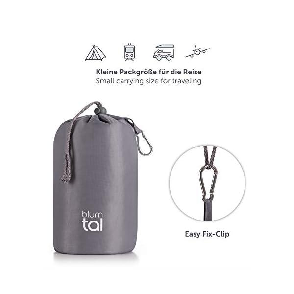41gp3KzcnBL Blumtal Visco-Schaum Reisekissen Memory Foam - Reise Nackenkissen mit Tasche, komprimierbar, ideales Camping Kopfkissen…