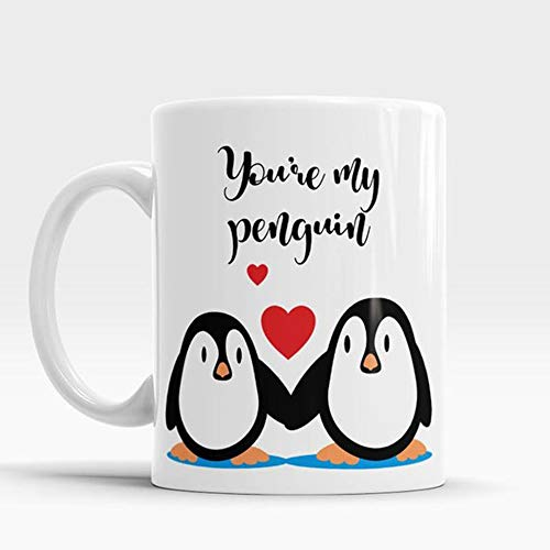 OttoRiven101 - You're my Penguin, Cute Valentine Mug, Wedding mug, Gift for him, Gift for her, Gift for husband, for wife, Boyfriend Gifts for Valentines, 11oz Ceramic Coffee Mug/Tea Cup, High Gloss ()