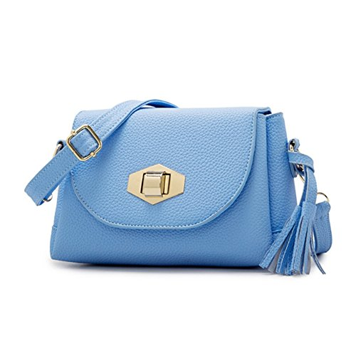 [Cloudbag HB30130 PU Leather Handbag for Women,Fashion Solid Small Square Package - 2016,Blue] (Wine Inspired Halloween Costumes)