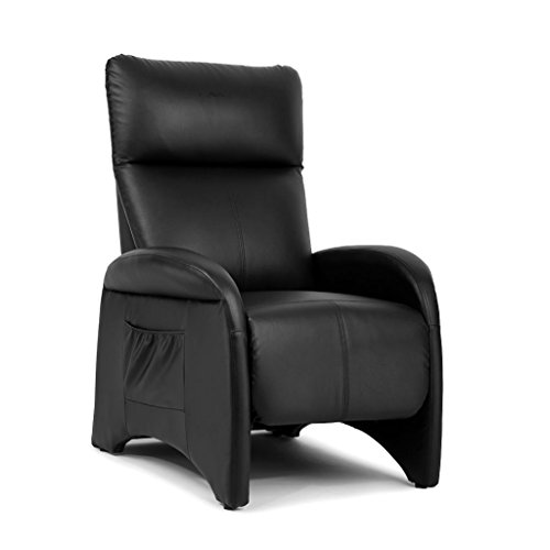 LANGRIA Recliner Chair Contemporary Faux Leather Sofa with S