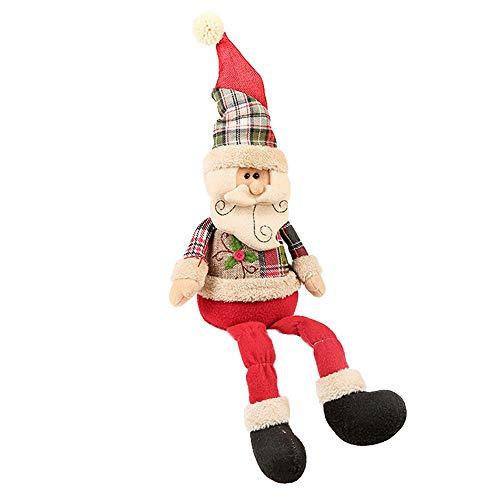 Vovomay Christmas Santa Claus Snowman Deer Stuffed Toys Plush Toy Doll (b)