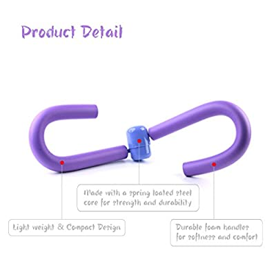 Thigh Master Muscle Fitness Equipment, Bodybuilding Expander, Toning Arm Leg Exerciser for Home GYM Yoga Sport Slimming Training