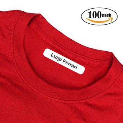 TheBABYSIMBA Etichette per vestiti bambini - etichette personalizzate con nome per scuola, asilo, sport. 100 Etichette termoadesive per abbigliamento | abiti. Facile da applicare e resistente!