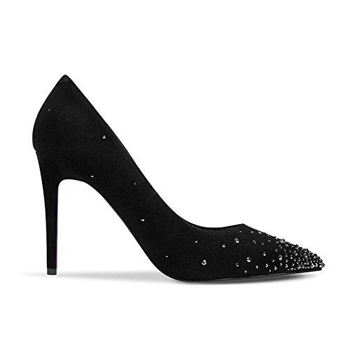 Hauts Simples Et des Talons Couleur Noir De 36 À Femmes Talons avec pour Souliers des Taille Simples Printemps Et Chaussures D'été Aiguilles JIANXIN Uxw4qC6
