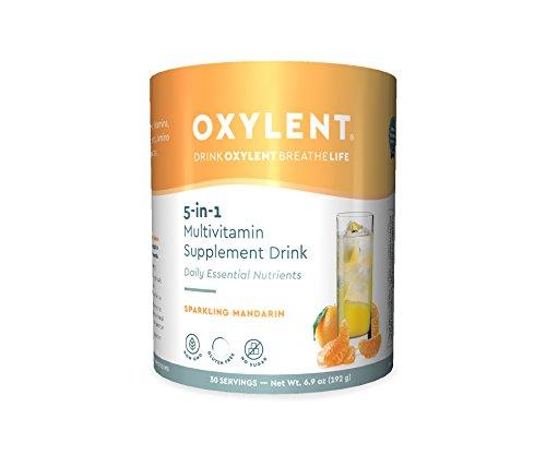 Oxylent 5-in-1 Multivitamin Sparkling Mandarin Supplement Drink, 6.9 Ounce
