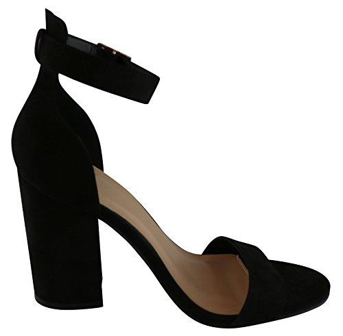 Stacked Ankle Heel Chunky Sandal Select Single Dress Strappy Cambridge Womens Imsu Black Band xUIq8n0F